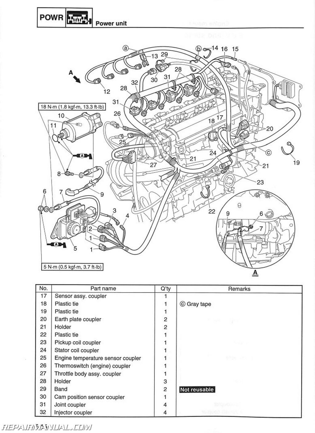 2010 2014 Yamaha Vx1100 Cruiser Deluxe 2015 V1 Sport Waverunner Service Manual on Electric Golf Cart Battery Wiring Diagram