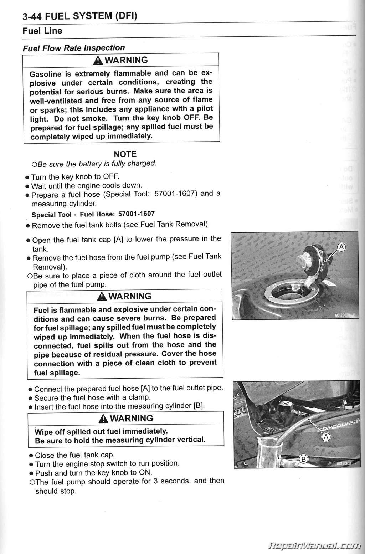 2010 2014 Kawasaki Zg1400c D Concours Abs Non Motorcycle Klr 650 Wiring Diagram Service Manual