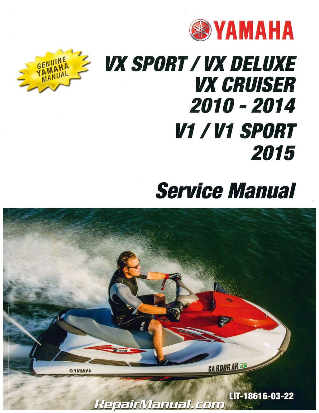 Yamaha waverunner vx 110 service manual user guide manual that 2010 2014 yamaha vx1100 cruiser deluxe 2015 v1 sport waverunner rh repairmanual com 2009 yamaha vx fandeluxe Images
