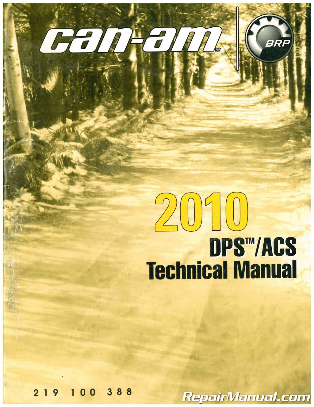 2010 Can-am Dynamic Power Steering (DPS) Air Control Suspension (ACS)  Technical Manual