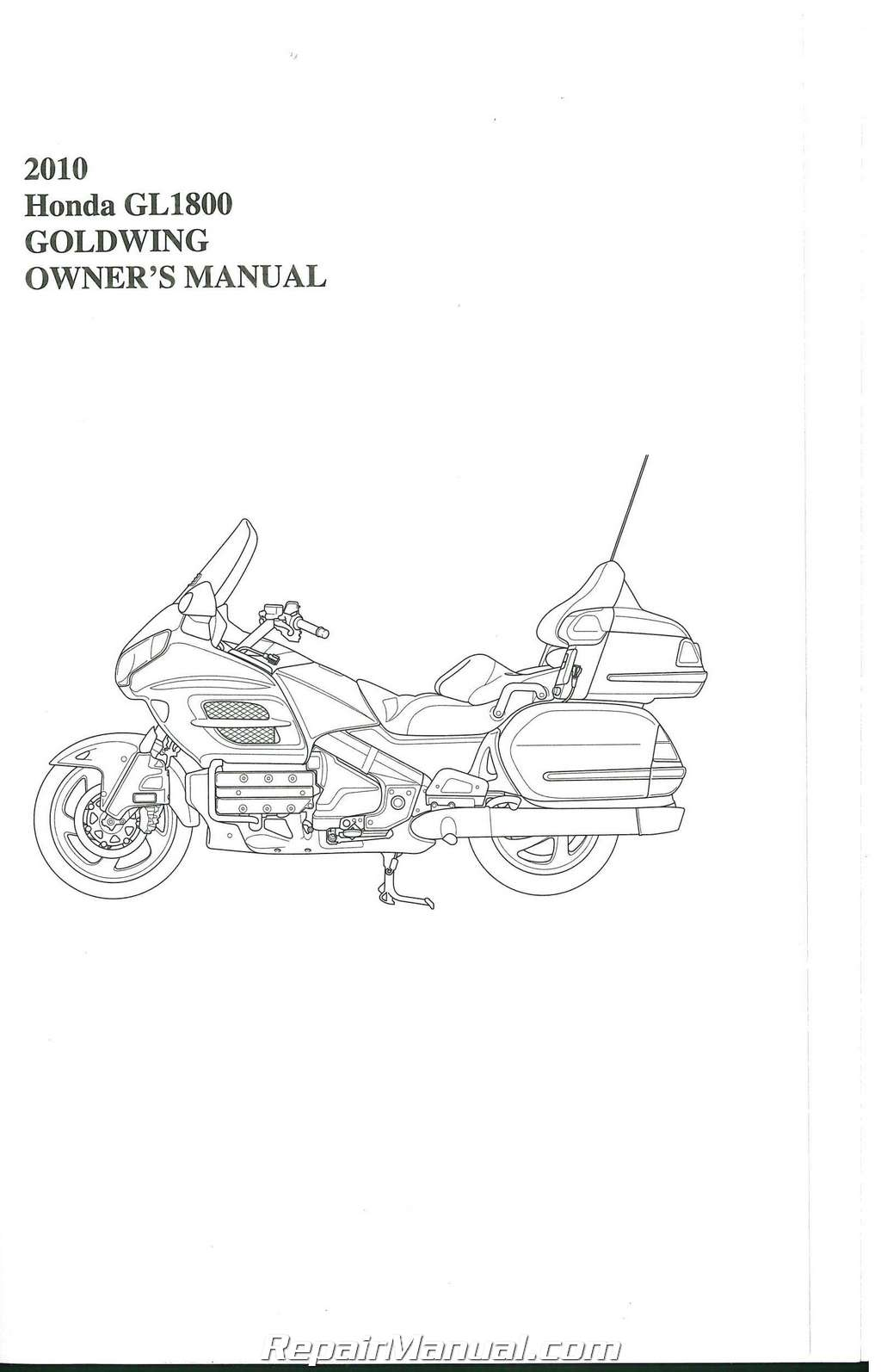 2010 Honda Gl1800 Gold Wing Motorcycle Owners Manual 31mca690 Ebay Wiring Diagram Communication 005