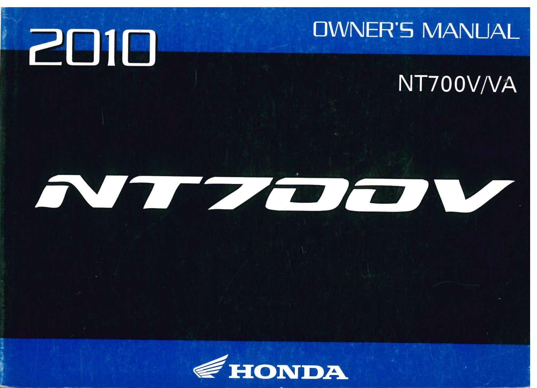 2010 honda nt700v motorcycle owners manual 31mewa00 ebay rh ebay com 2010 honda pilot owners manual 2010 honda crv owners manual
