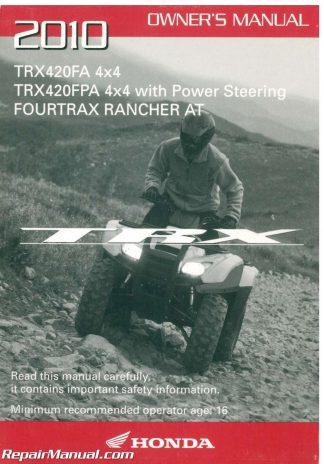 2010 honda rancher 420 manual
