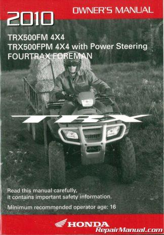 2010 honda trx420fa fpa fourtrax rancher at atv owners manual rh repairmanual com Honda Rancher Manual PDF 2010 honda rancher 420 service manual download