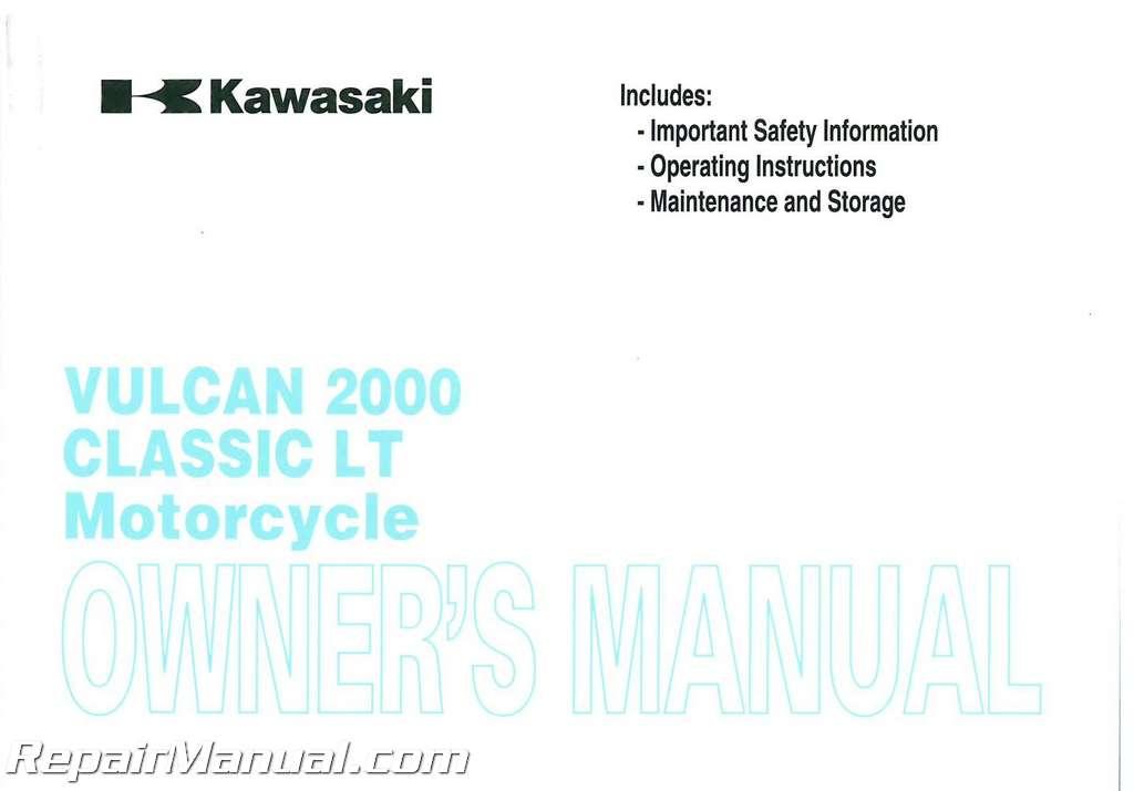 Kawasaki Vulcan Owners Manual