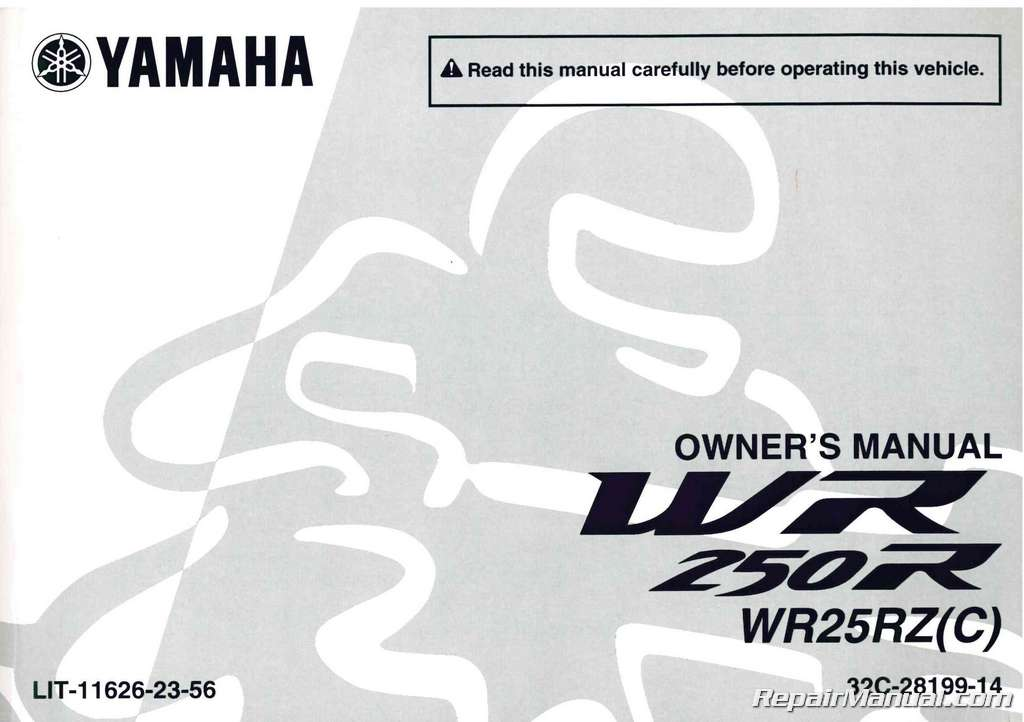 2010 yamaha wr250r motorcycle owners manual rh repairmanual com yamaha owners manual vf150 yamaha owners manual download free
