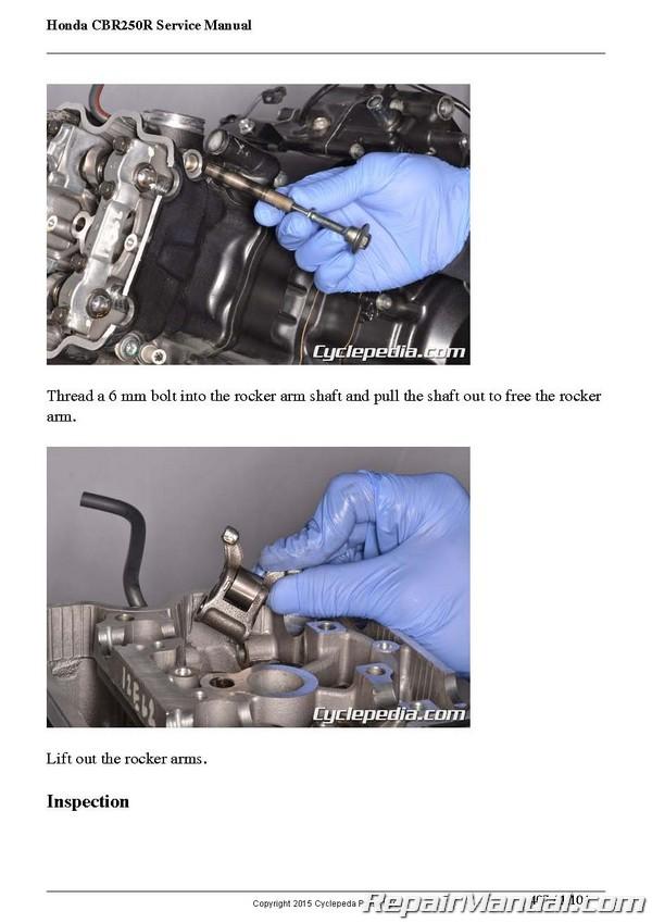 2011 2012 2013 CBR250R Honda Motorcycle Service Manual Printed Cyclepedia