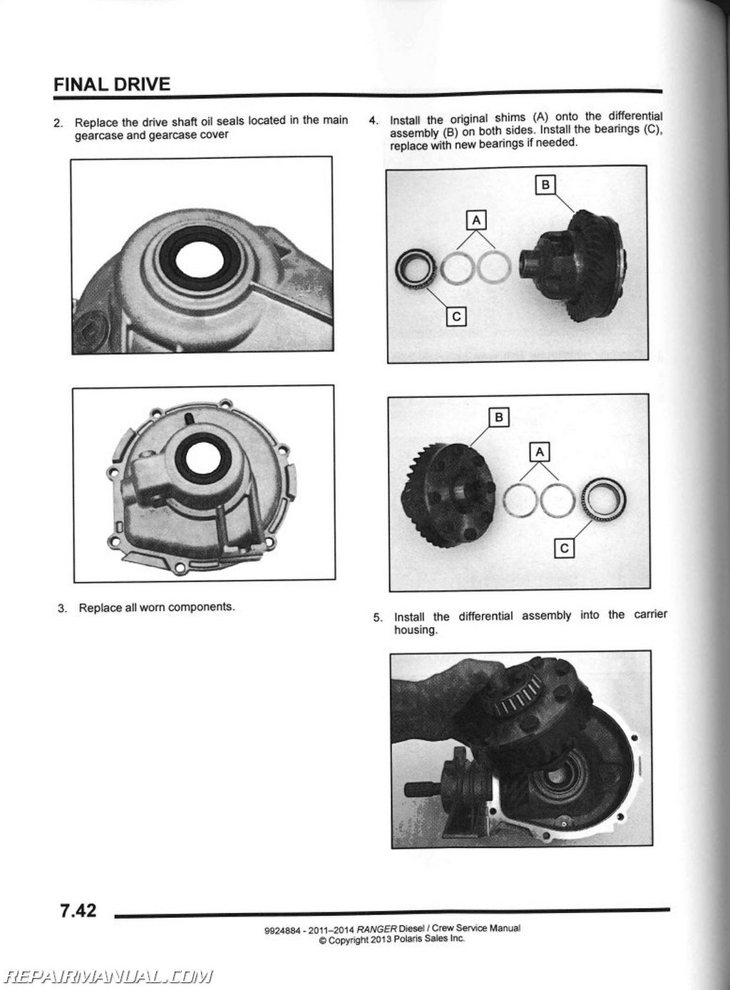 Polaris Ranger Diesel Crew Utv Service Manual Page on Diesel Golf Engine Diagram