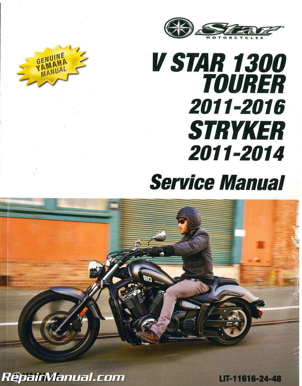 2011-2014 Yamaha XVS13C V Star Stryker 2011-2017 Tourer Motorcycle Service  Manual