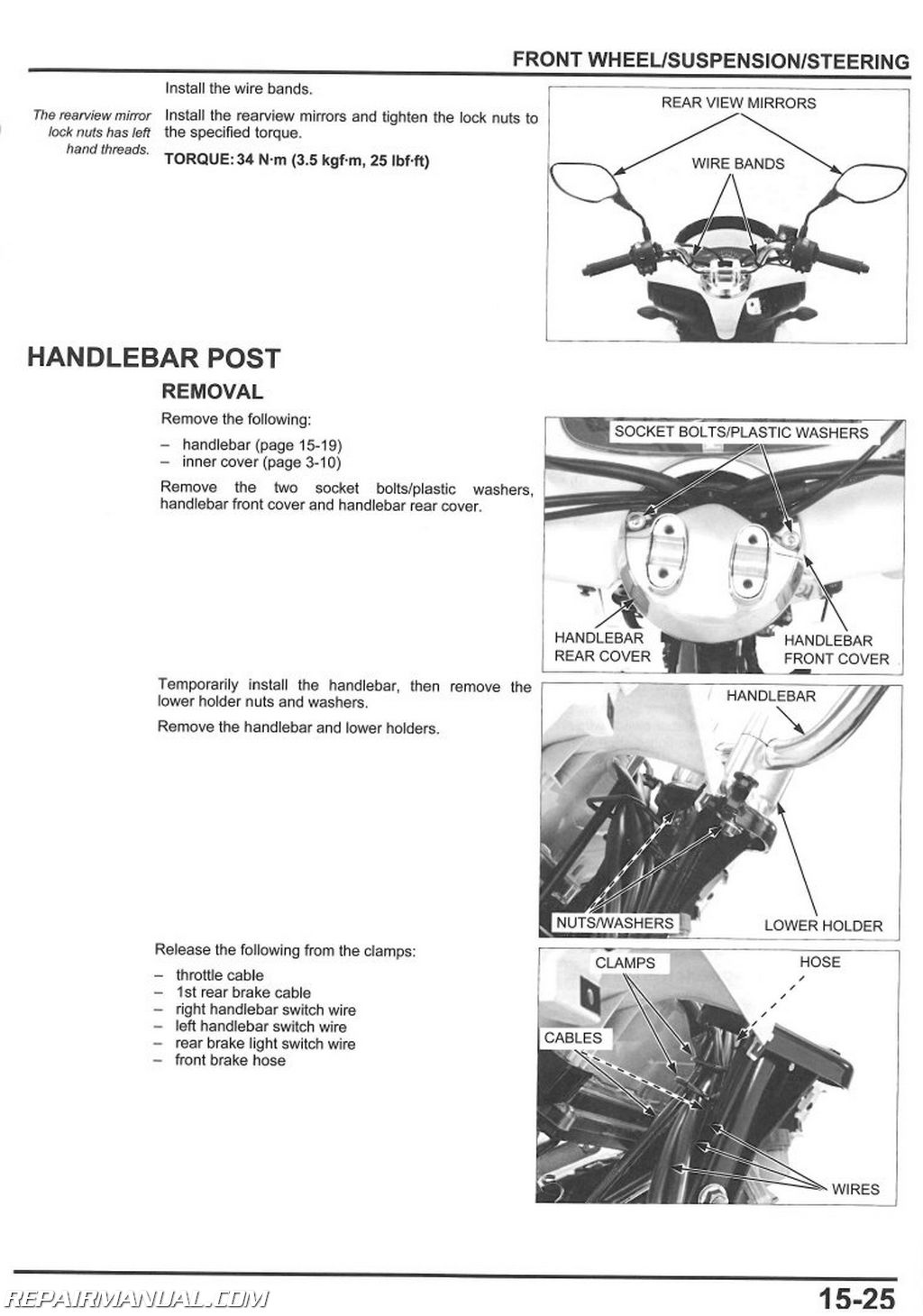 2011 honda pcx125 scooter service manual by repairmanual