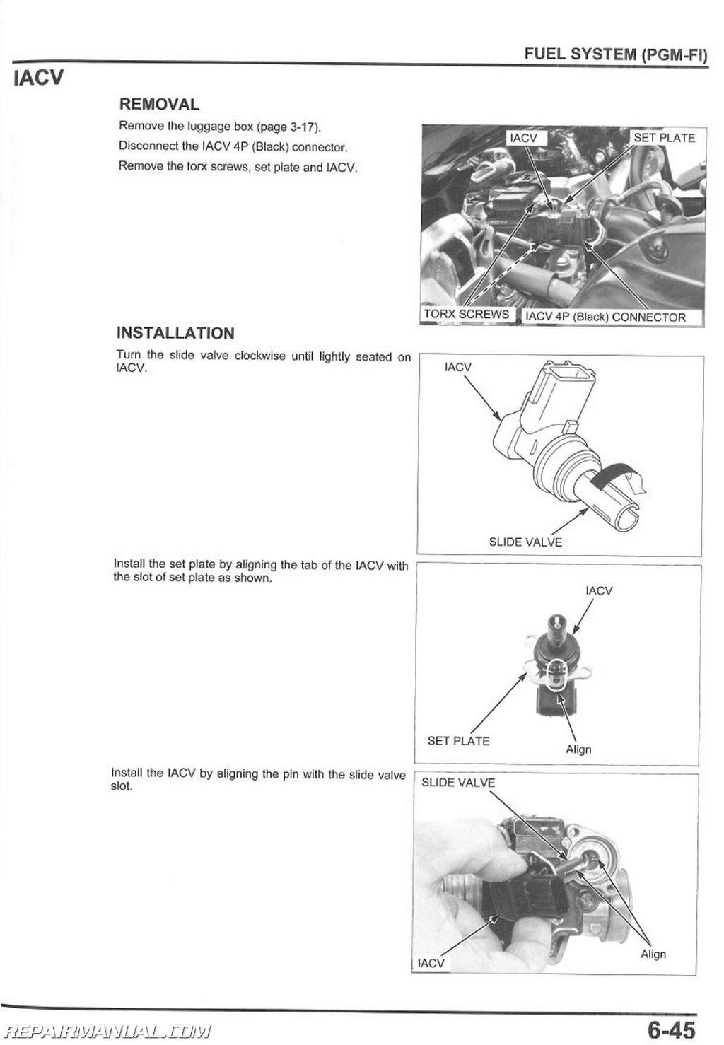 2011 honda pcx125 scooter service manual rh repairmanual com  owners manual honda pcx 125