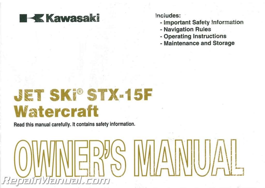 Kawasaki Stx F Manual