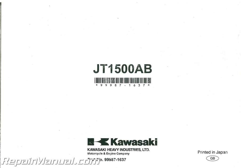 Kawasaki Jet Ski Stx  F Owners Manual