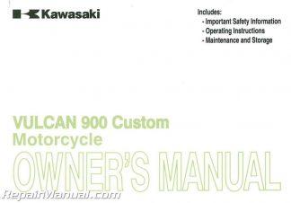 Kawasaki Vulcan Custom Owners Manual