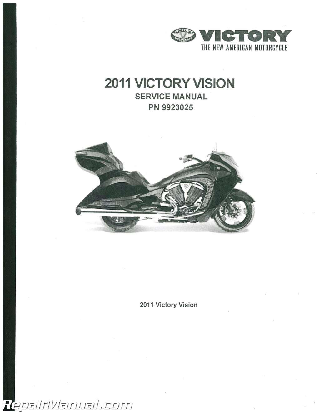 2011 Victory Vision Tour Service Manual on