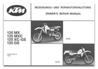 Official 1984-1985 KTM 125 GS MX MXC Owners Repair Manual