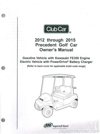 2012 Club Car Gasoline & Electric Precedent Golf Cart Parts