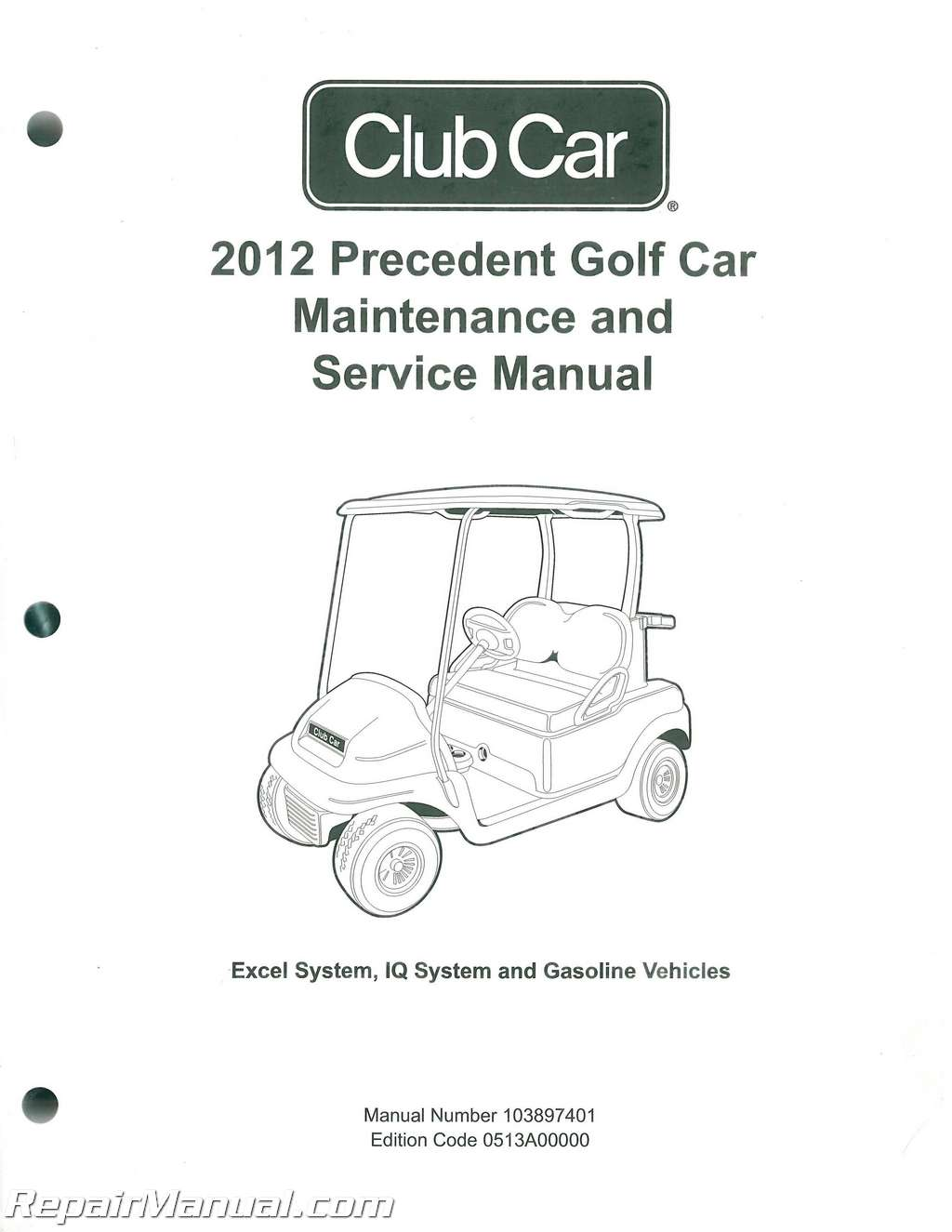 2012 Club Car Gasoline Amp Electric Precedent Golf Cart