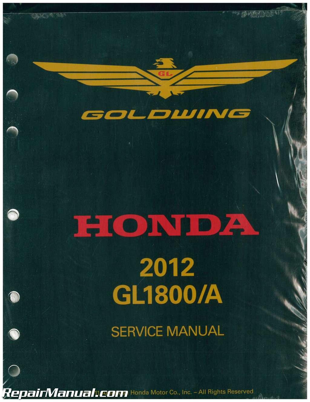 2012 honda gl1800a b goldwing motorcycle service manual rh repairmanual com 2012 honda goldwing gl1800 owner's manual 2016 Honda Goldwing