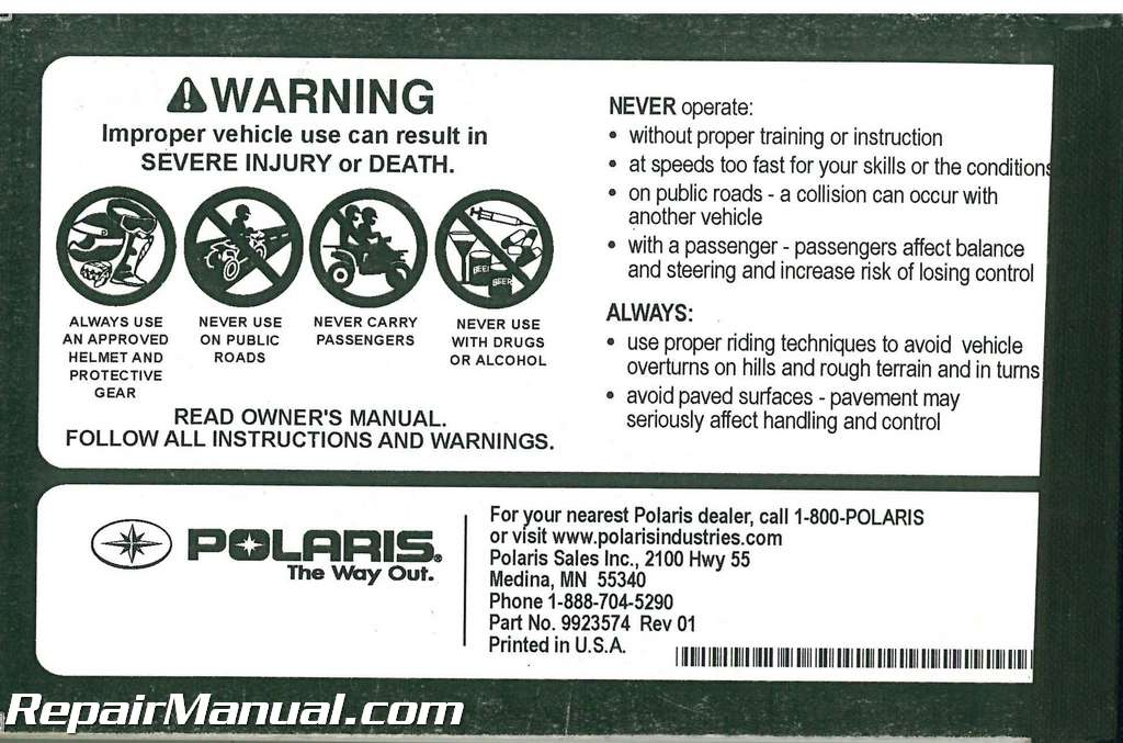 2012 polaris outlaw 50 atv owners manual rh repairmanual com 2011 polaris outlaw 50 owners manual 2011 polaris outlaw 50 owners manual