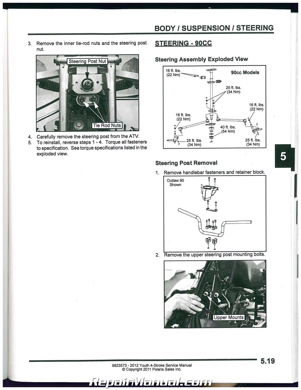 Polaris Sportsman 90 Service Manual 2012 Outlaw Wiring Diagram 50 And Rh Repairmanual Com Predator Electrical 2004
