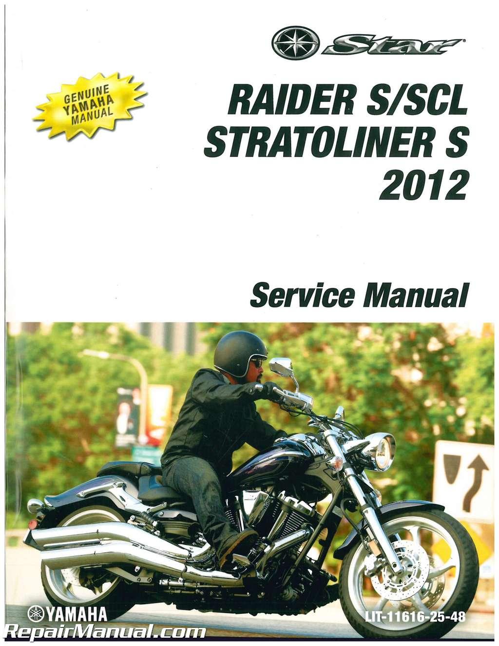 2012 Yamaha XV19 Raider Roadliner S Stratoliner S Motorcycle Service Manual