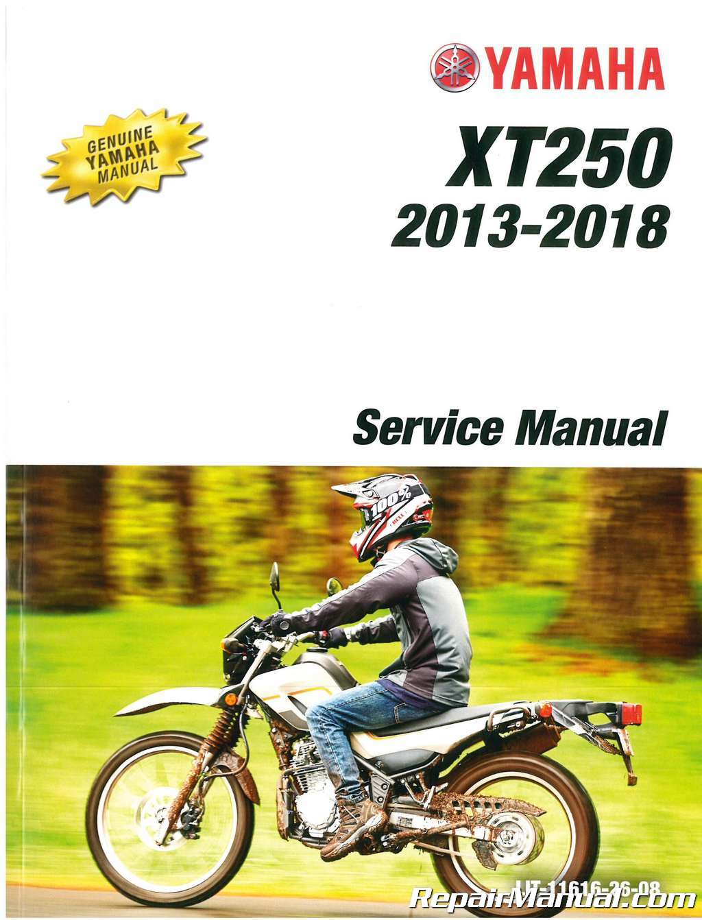 2013 2018 yamaha xt250 motorcycle service manual rh repairmanual com 2008 yamaha xt 250 service manual yamaha xt 250 repair manual pdf