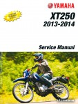 2013 - 2014 Yamaha XT250 Service Manual