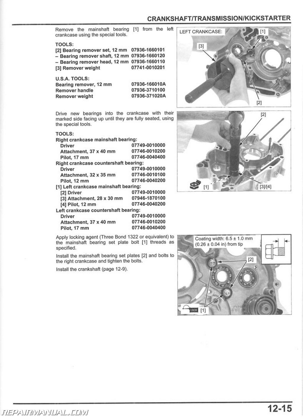 2013-2015 honda crf110f service manual