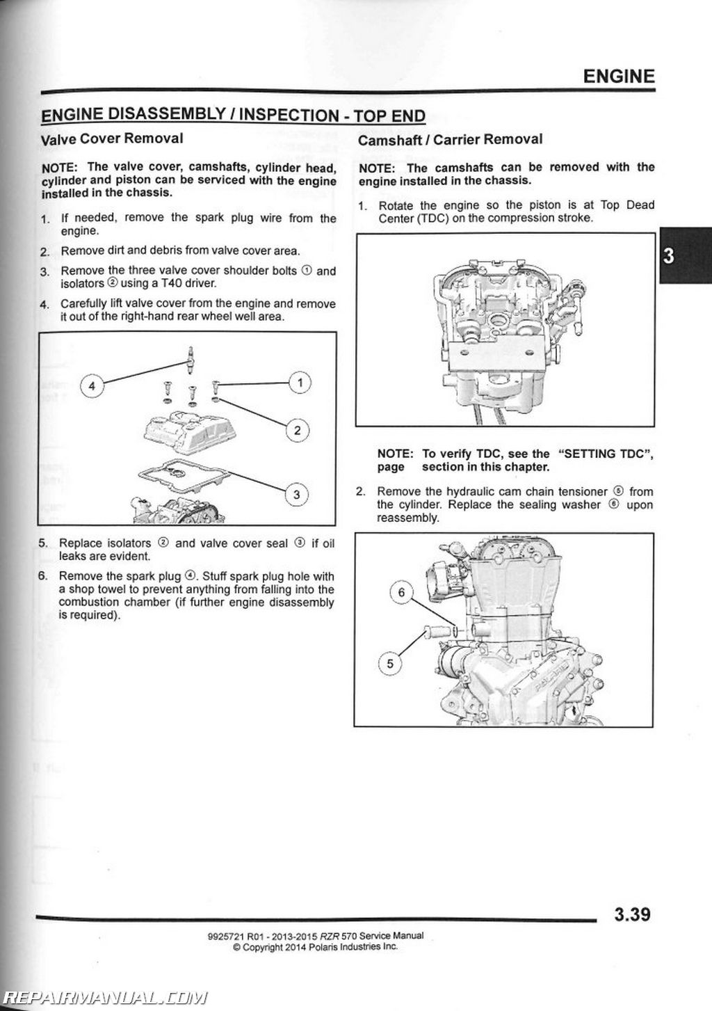 2013-2014 polaris rzr 570 service manual