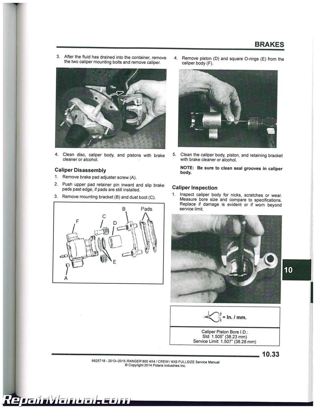 2015 Polaris Ranger 900 Service Manual