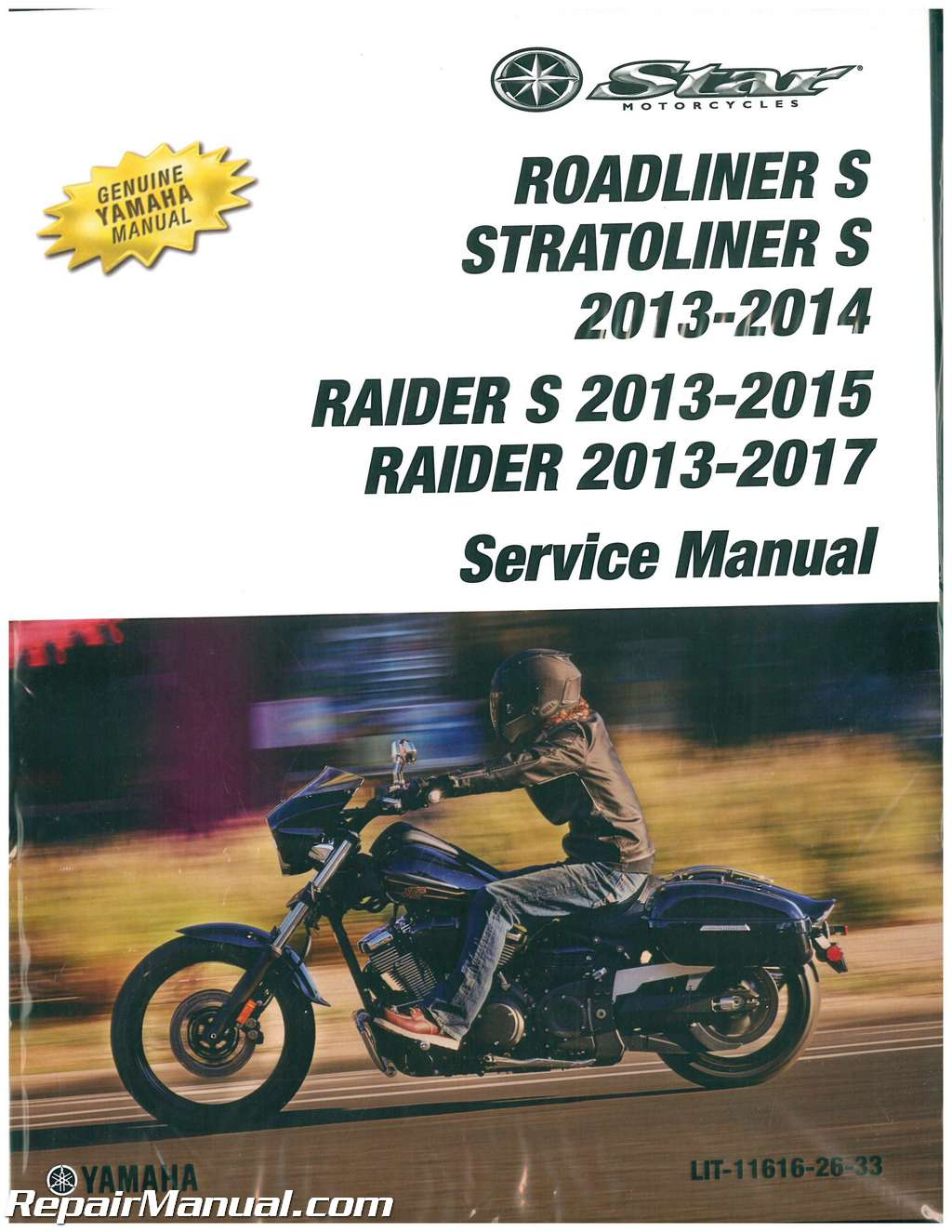 2013 2017 yamaha raider s stratoliner s roadliner s 1900 motorcycle rh repairmanual com yamaha raider maintenance manual yamaha raider maintenance manual
