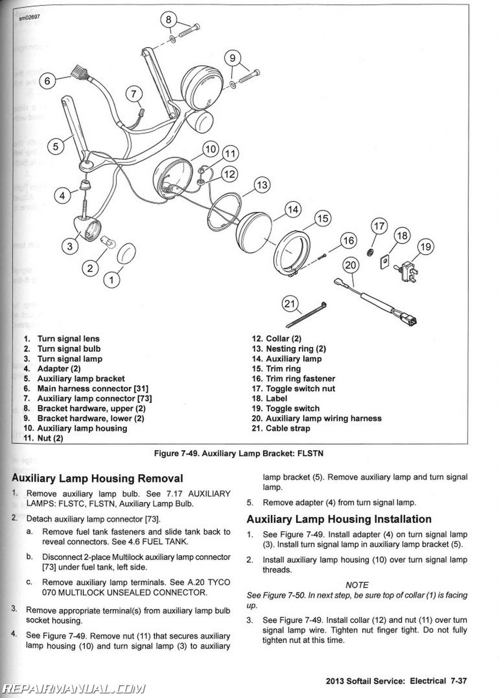 2013 Harley Davidson Softail Motorcycle Service Manual Turn Signal Wiring Diagram On Lights