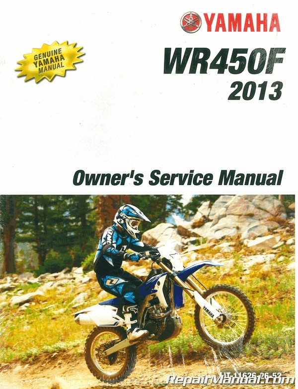 2013 Yamaha Wr450f Factory Owners Service Manual