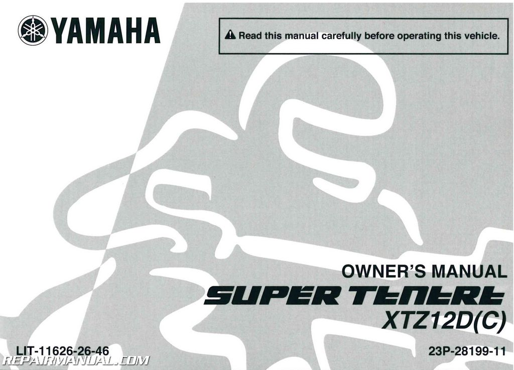 2013 yamaha xtz12d super tenere motorcycle owners manual rh repairmanual com yamaha owners manuals ef200is yamaha owners manual download free