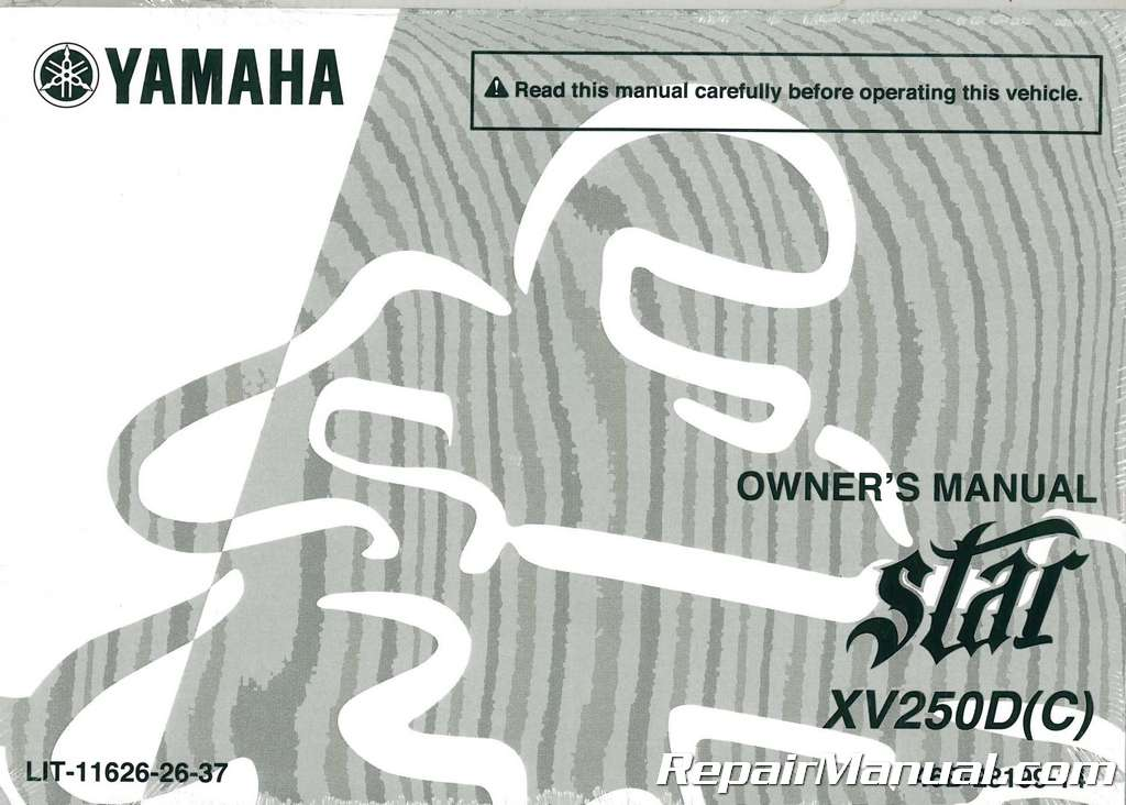2013 yamaha xv250 v star motorcycle owners manual lit 11626 26 37 rh ebay com yamaha v star 250 owner manual 250 yamaha v star 250 owners manual pdf