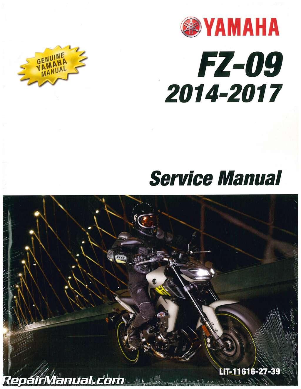 2014 2016 yamaha fz 09 motorcycle service manual 850cc rh repairmanual com yamaha fzs manual pdf yamaha fz 07 manual