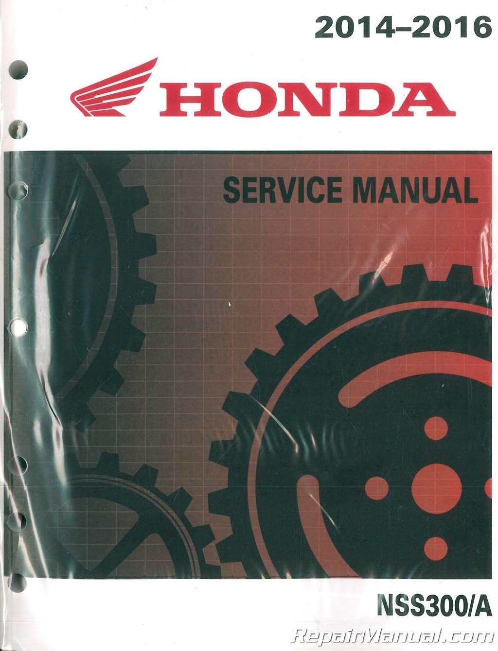 2014 2016 Honda Nss300 A Forza Scooter Service Manual