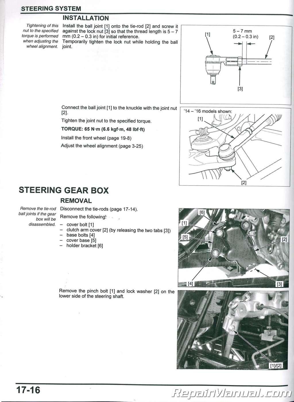 2014 2018 Honda Sxs700 M2 M4 Pioneer Utv Service Manual 700r Torque Converter Wiring Diagram