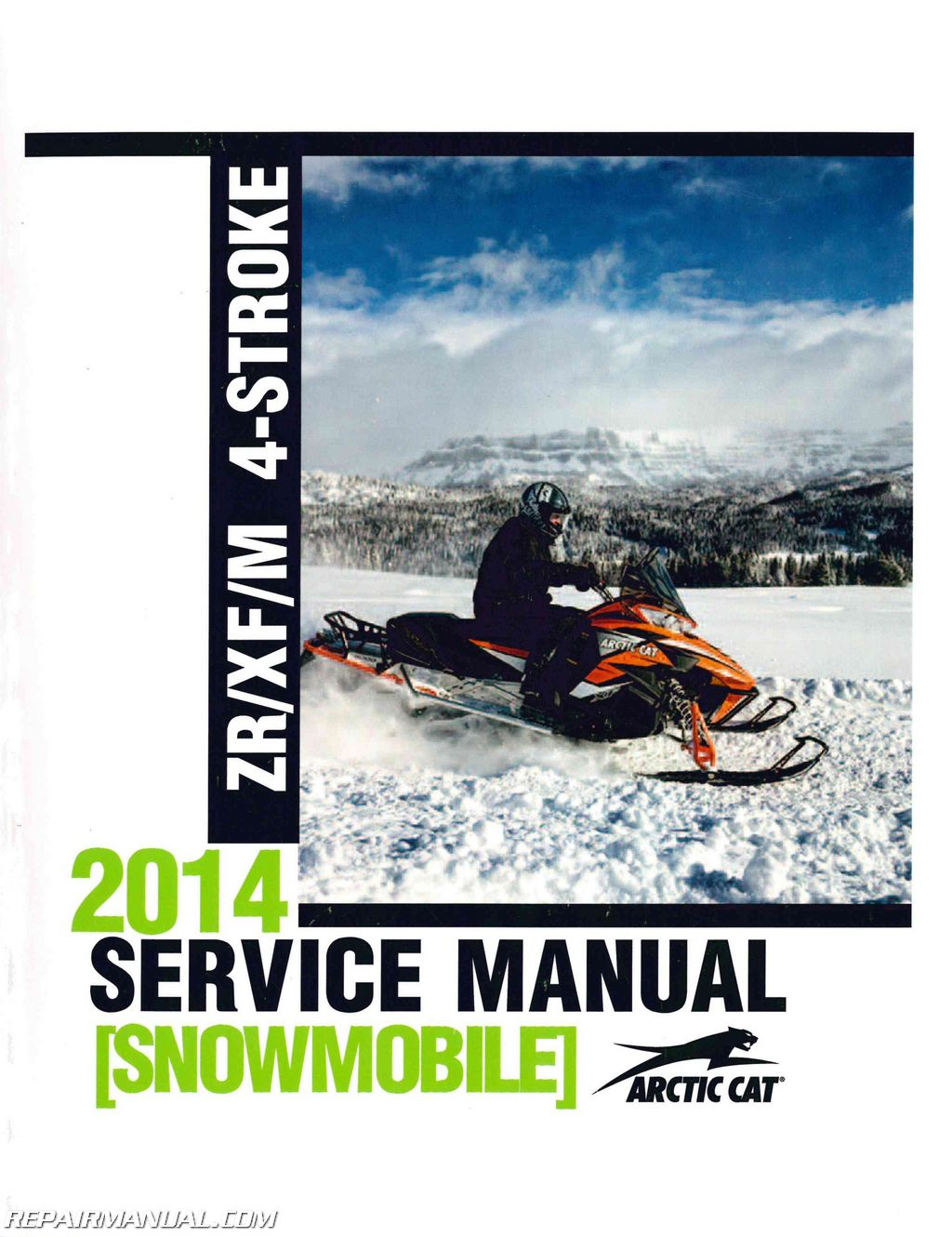 2014 Arctic Cat Zr Xf M 4 Stroke Snowmobile Service Manual   2260