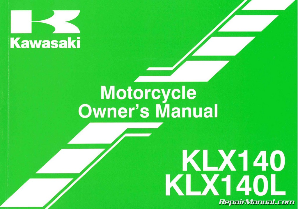 2014 kawasaki klx140 l motorcycle owners manual 99987. Black Bedroom Furniture Sets. Home Design Ideas
