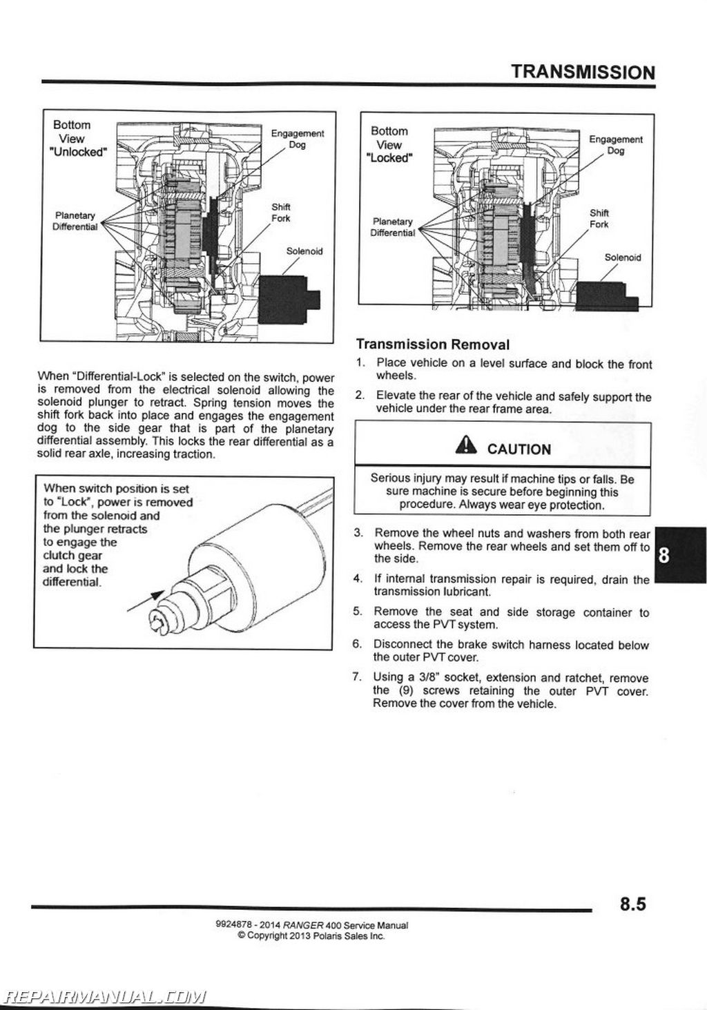 Polaris Ranger 400 Engine Diagram Manual Guide Wiring 2014 Side By Service Rh Repairmanual Com 2001 500
