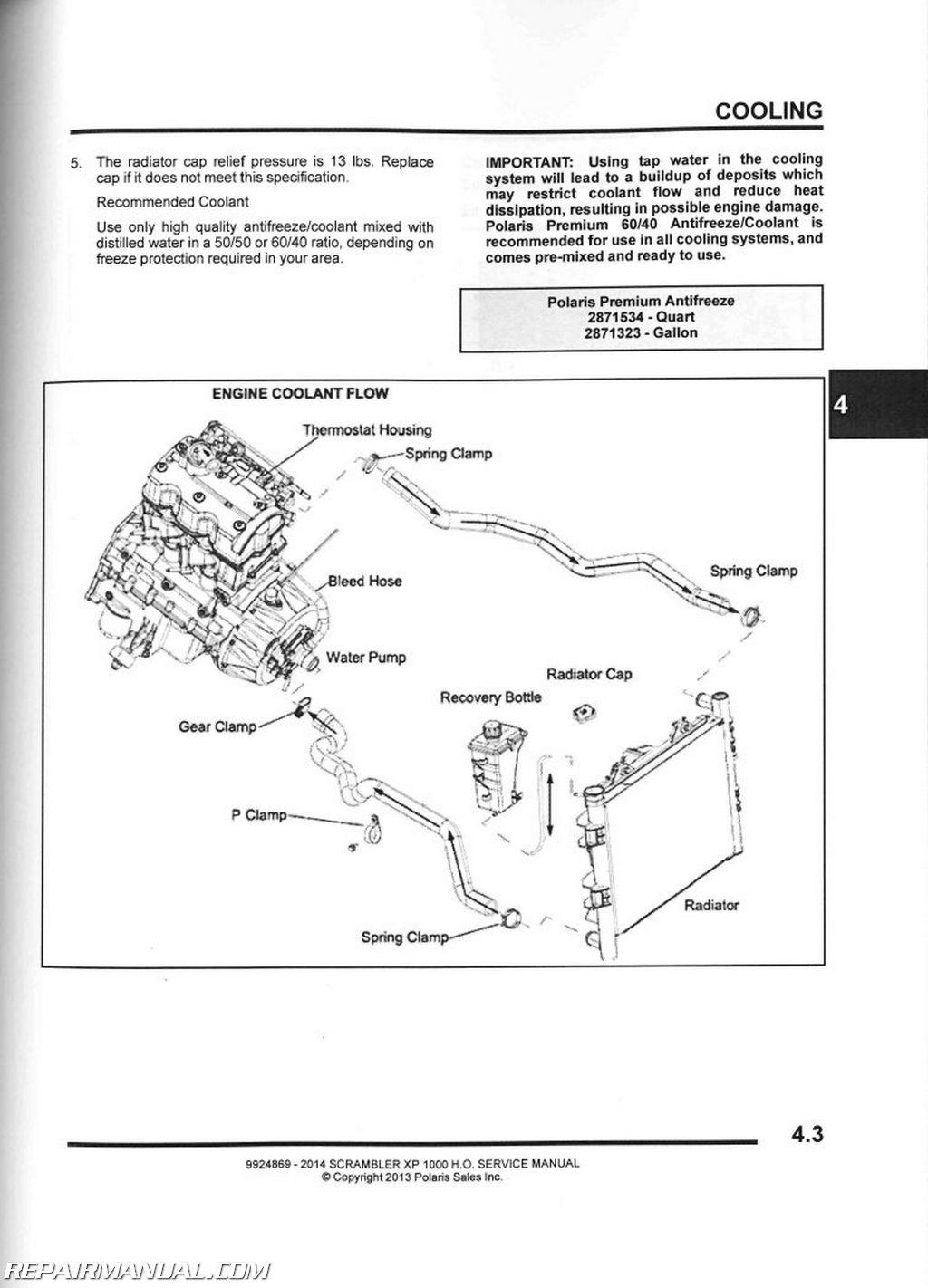 2014 Polaris Scrambler Xp 1000 Ho Atv Service Manual