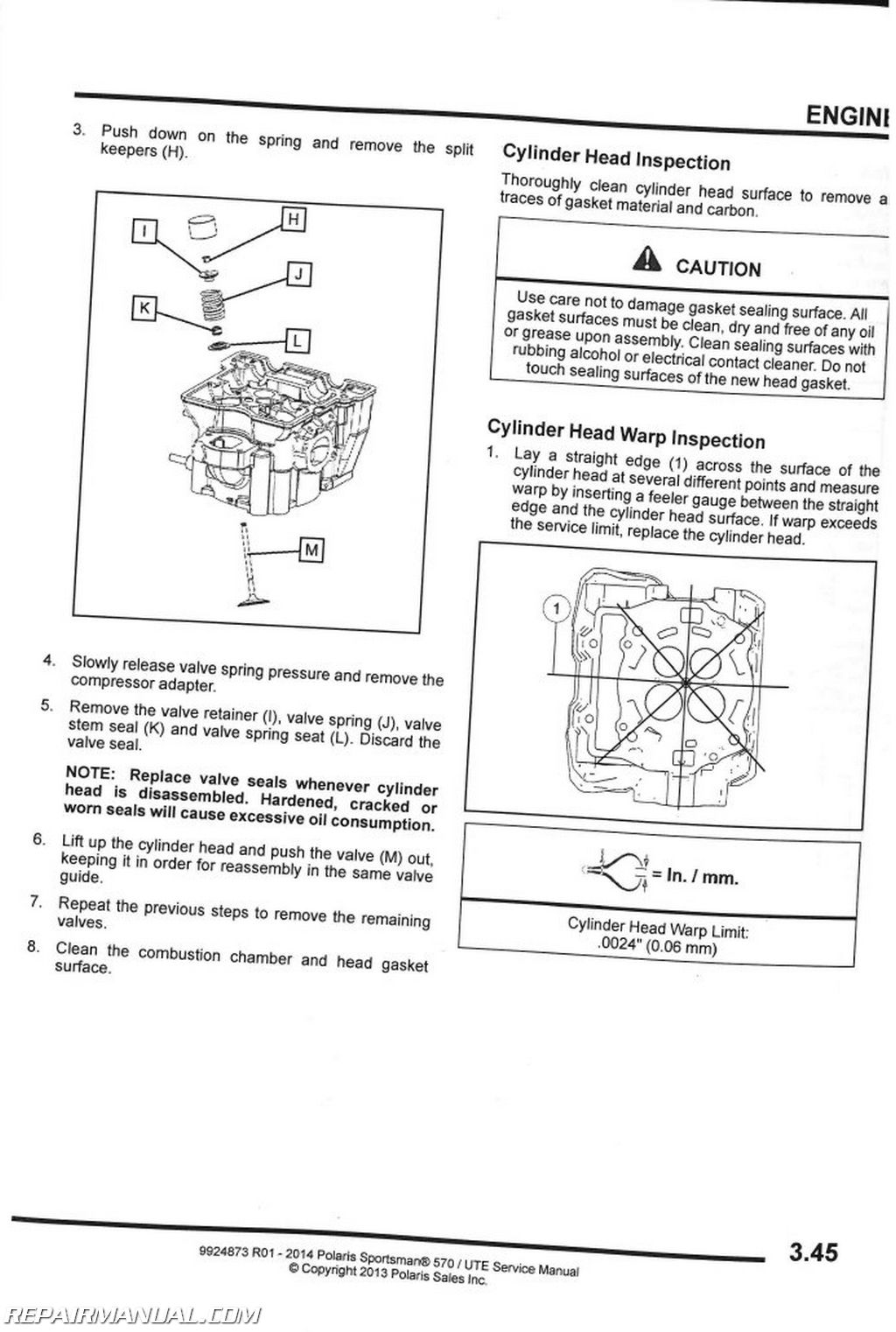 polaris sportsman  efi hd ute service manual