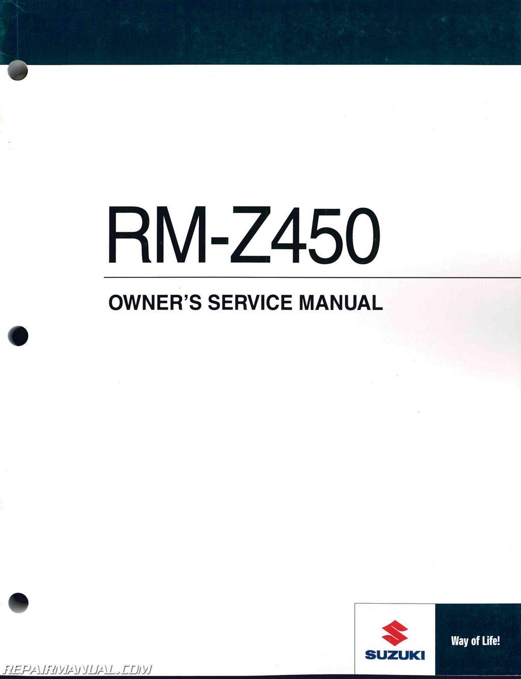 Suzuki Rm  Repair Manual