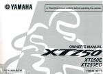 2014 Yamaha XT250E Owner's Manual
