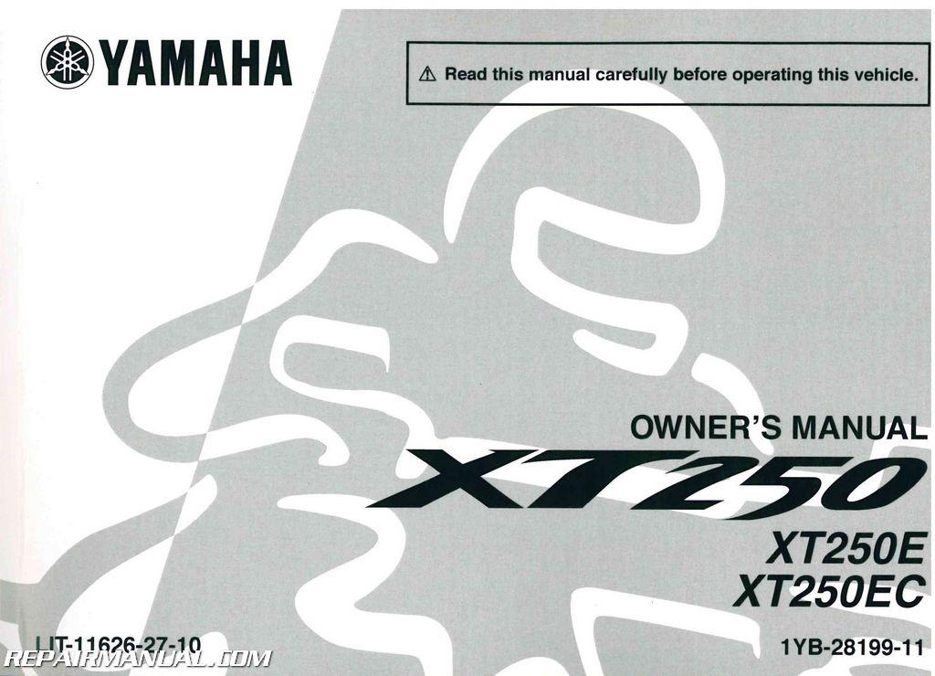 2014 yamaha xt250e motorcycle owner s manual rh repairmanual com yamaha motorcycle owners manual 2014 yz450f yamaha motorcycles owners manuals online free