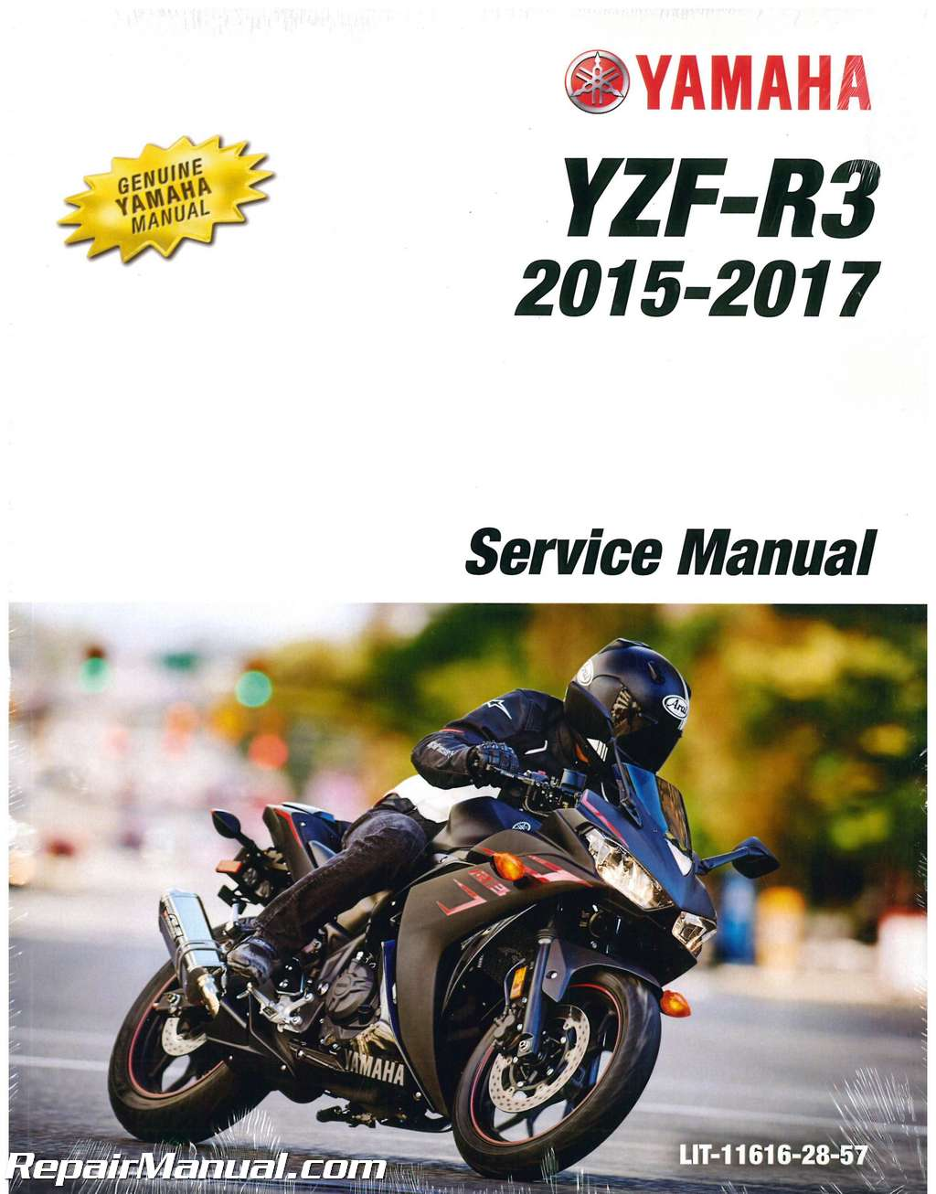 2015 2017 yamaha yzf r3 300cc motorcycle service manual rh repairmanual com yamaha motorcycle manual download Yamaha Motorcycle Engine Manual