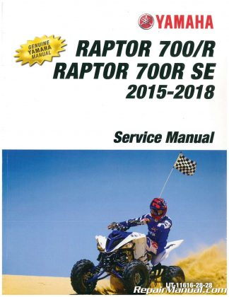 Yamaha Raptor R Se Atv Printed Service Manual X