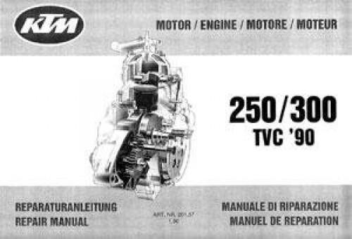 1990 ktm 250 300 repair manual two stroke engine. Black Bedroom Furniture Sets. Home Design Ideas